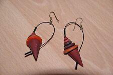Damen-Ohrringe, Holz