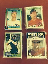 1981 1986 1988 1990 Topps Chicago White Sox Team Sets  4 Team sets