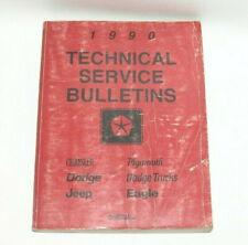 1990 Chrysler Jeep Factory Original Technical Service Bulletins Manual Book #C7