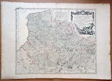 XVIII ème Gouv. Picardie & Artois Belle Carte par Vaugondy 79 x 56 Editée 1753