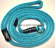 "SLIP LEAD/LEASH-3/8"" X 6' TURQUOISE ROPE-DOGS UP TO 65 LBS NEW  (224)"