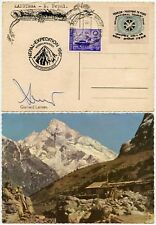 MOUNTAINEERING SIGNED KANGTEGA GERHARD LENSER + TOURIST PASSPORT PEACE LABEL