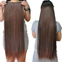 GRADE AAA One Piece Clip in 100% Remy Human Hair Extensions Full Head Set THICK!