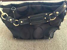 Signature COACH Canvas handbag Leather trim Black