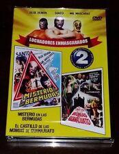 MIL MASCARAS, SANTO, BLUE DEMON  NEW DVD 2 IN ONE  EL CASTILLO DE LAS  MOMIAS