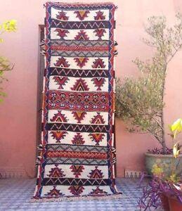 """Berber Rug, 73""""  x 27""""  Gray Rug, Corridor Runner Rug, CHRISTMAS PRESENT GIFT"""