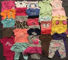 EUC Adorable Baby Girl CLOTHES LOT Outfit Sets Newborn Lot # 1