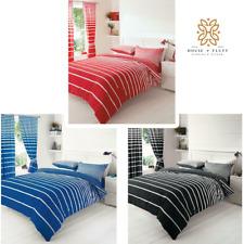 Linear Stripe Duvet Quilt Cover Bedding Bed Linen Set Pillow Cases Luxury