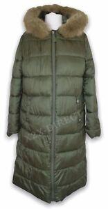 Joules Touchline Long Padded Hooded Coat Seaweed UK 14 NEW