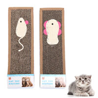 cat kitten corrugated board pad scratcher bed mat claws care toys new AGDS