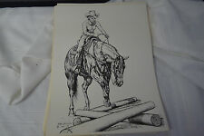 "Vintage Western Cowgirl Walking Slow Print by Gary Ericsson  12"" X 16"""