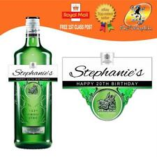 PERSONALISED GIN BOTTLE LABEL BIRTHDAY ANY OCCASION GIFT
