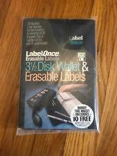 Brand New Label Once 3 1/2 Navy Disk Wallet & ErasableLabels 1994