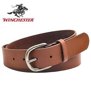 Winchester Women's Brown Wide Belt For Jeans Pants Dress, Antique Buckle Belt