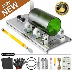 14 Piece Glass Bottle Cutter Kit with Professional Accessories & Sturdy Blades