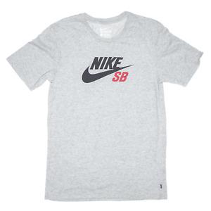 NIKE Grey Regular Short Sleeve T-Shirt Mens S