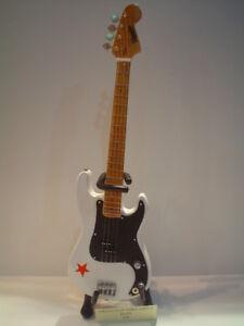 Miniature Guitar (24cm Tall) : GREEN DAY MIKE DIRNT BASS