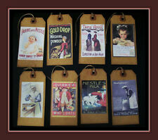 REALLY VINTAGE OLD TIMEY HANG TAGS - NAMEBRANDS OF DAYS GONE BY