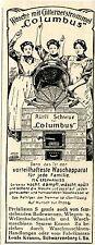 Krauss Schwarzenberg i. Sa. WASCHMASCHINEN Historische Reklame von 1908