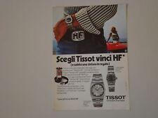 advertising Pubblicità 1971 OROLOGIO TISSOT SIDERAL