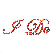 Deep Red Crystal  I Do Wedding Shoe Sole Sticker XSS25