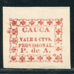 PROOF 1890 COLOMBIA CAUCA