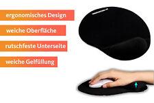 ergonomisches Mauspad mit Silikon Gel Handauflage extra weich schwarz