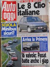 Auto OGGI n°199 1990 Nissan Primera - Passat BMW 318 Mazda 626 Peugeot 405[Q200]