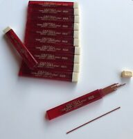 Vintage Faber Castell Thin RED .9mm Mechanical Pencil Leads For 1 Tube 12 Per