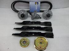 "John Deere Mower Deck Kit Belt Blades 48"" belt blades spindles LA130 LA140 LA145"