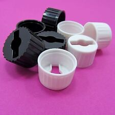 20mm LED Lens Holder Plastic Black or White Optic Bracket