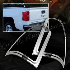 For 2014-2018 Chevy Silverado 1500 Chrome ABS Trim Bezel Rear Tail Lights Cover