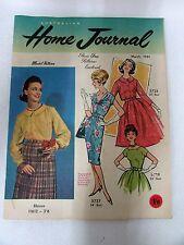 VINTAGE 1961 HOME JOURNAL MAGAZINE - MID CENTURY DESIGN FASHION DRESS PATTERNS