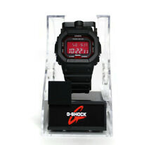 Casio G-Shock Solar Multi-Band 6 Black with Red Face Watch GW-B5600AR-1