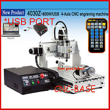 USB PORT!  four 4 axis 3040 800W cnc router engraver engraving machine desktop