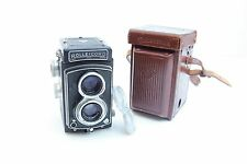 Rolleicord Model III K3B Film Camera Xenar 75mm f/3.5 Lens w/ Leather Case