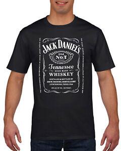 Classic Jack Daniels Inspired T Shirt  - Individually Printed - Black,White,Grey