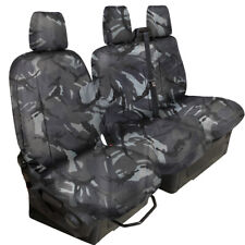 FULLY TAILORED HEAVYDUTY GREY CAMO VAN SEAT COVER for FORD TRANSIT CUSTOM 2013on