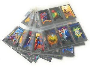 Superman The Man Of Steel Platinum Edition Foil Embossed Base Set 1-90 Cards
