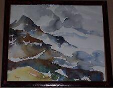 Künstlerische Malereien von 1950-1999 im Expressionismus-Stil auf Papier