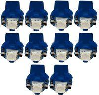 10x ampoule T5 12V LED SMD bleu pour tableau de bord pour auto voiture