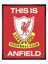 More details for liverpool framed poster gloss black this is anfield 40x50cm