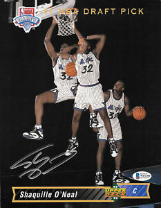 Shaquille O'Neal Rookie Limited Jumbo Card 1993 Upper Deck Signed Beckett