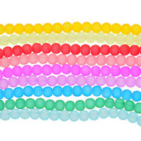 Tube of Gutermann Matt Faceted Frosted Glass Beads 4x3mm in Various Colours