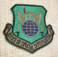 OSI USAFOSI USAF AIR FORCE OFFICE SPECIAL OF INVESTIGATION PATCH NEW  GREEN