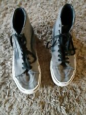 Vans Mens 9 Womens 10.5  Hi Top Canvas Sneakers Shoes