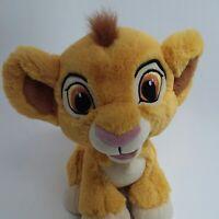 """Disney Parks Simba plush 9"""" tall sitting Baby cub Brown eyes Lion King"""