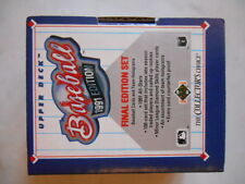 1991 Upper Deck Baseball Final Edition Complete 100-Card Set