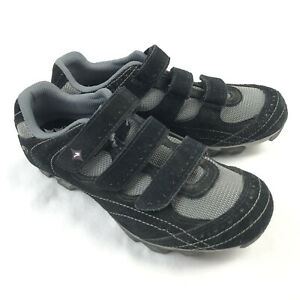 Specialized Riata Mountain Bike MTB Shoes Womens 7.5 Black Suede Leather 3 Strap