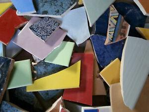 Fliesenbruch Mosaik 10 Kilo - Mix bunt verschiedene Farben B8 basteln Künstler
